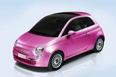 Pink Fiat 500 celebrates Barbie's 50th