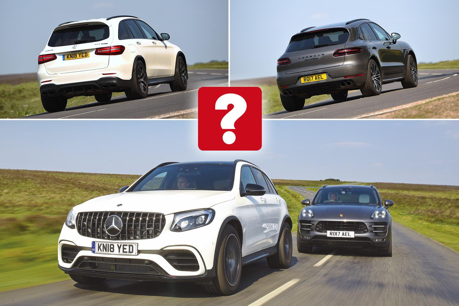 New Mercedes-AMG GLC 63 vs Porsche Macan