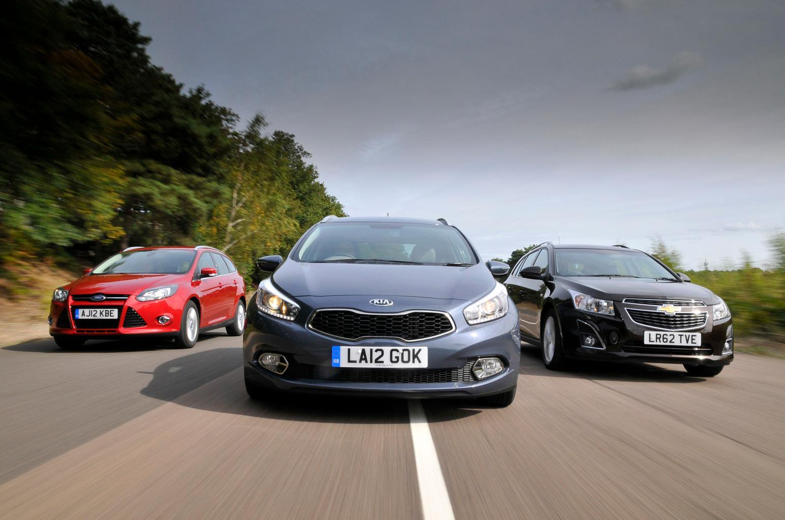 Used test: Ford Focus Estate vs Kia Cee'd Sportswagon vs Chevrolet Cruze Station Wagon