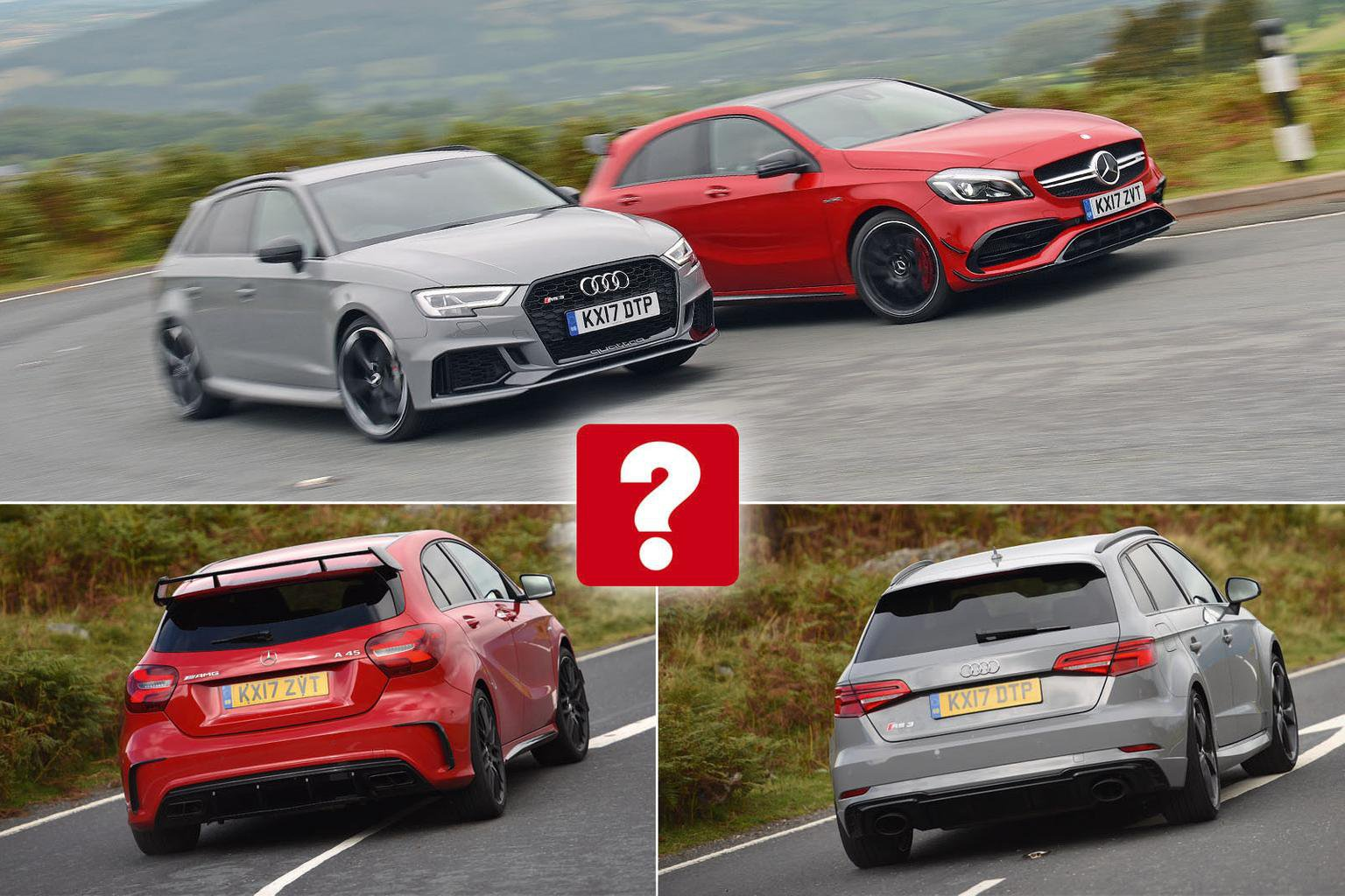 New Audi RS3 Sportback vs Mercedes-AMG A45