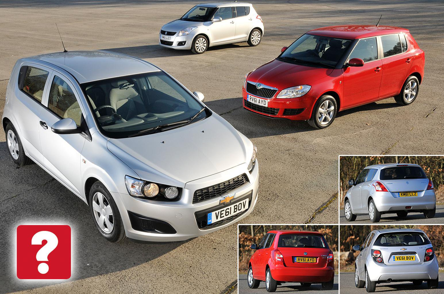 Used Skoda Fabia vs Suzuki Swift vs Chevrolet Aveo