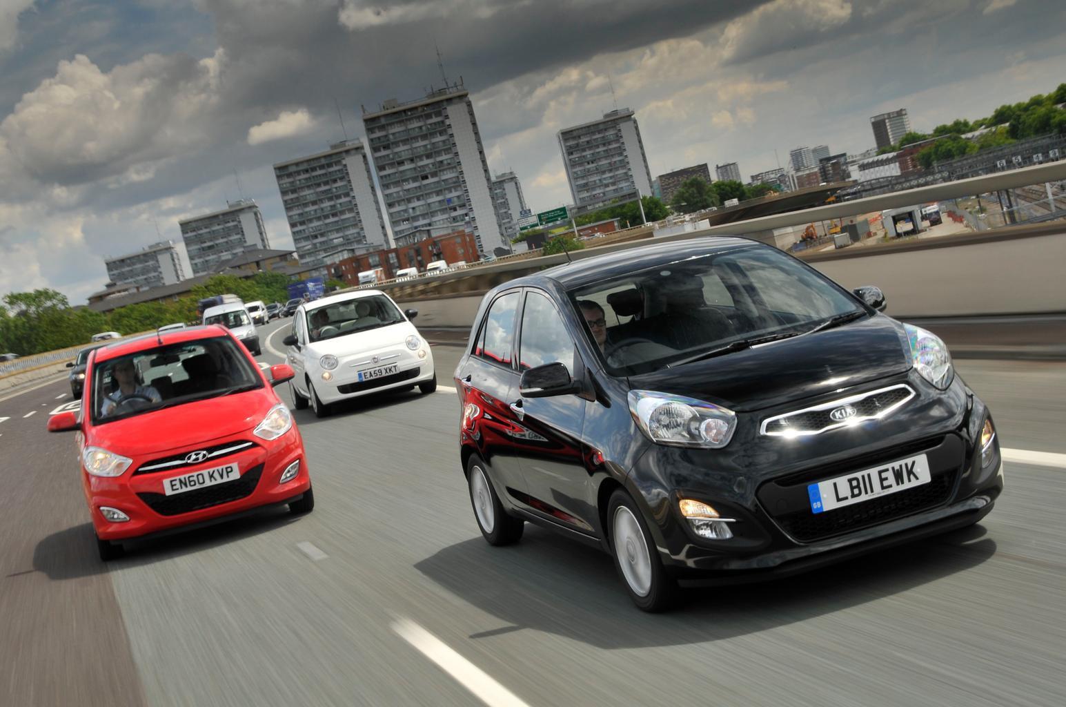 Used test: Fiat 500 vs Kia Picanto vs Hyundai i10