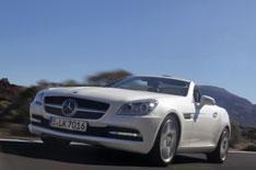Mercedes SLK driven