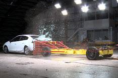 Electric car crash tested