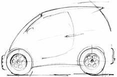 Supercar designer's green city car