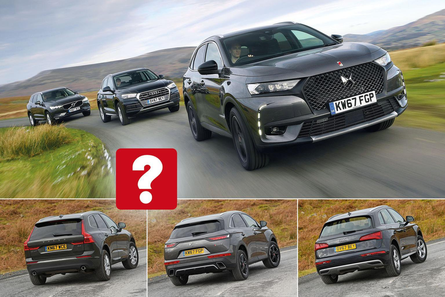 New DS 7 Crossback vs Audi Q5 vs Volvo XC60