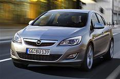 New Vauxhall Astra driven