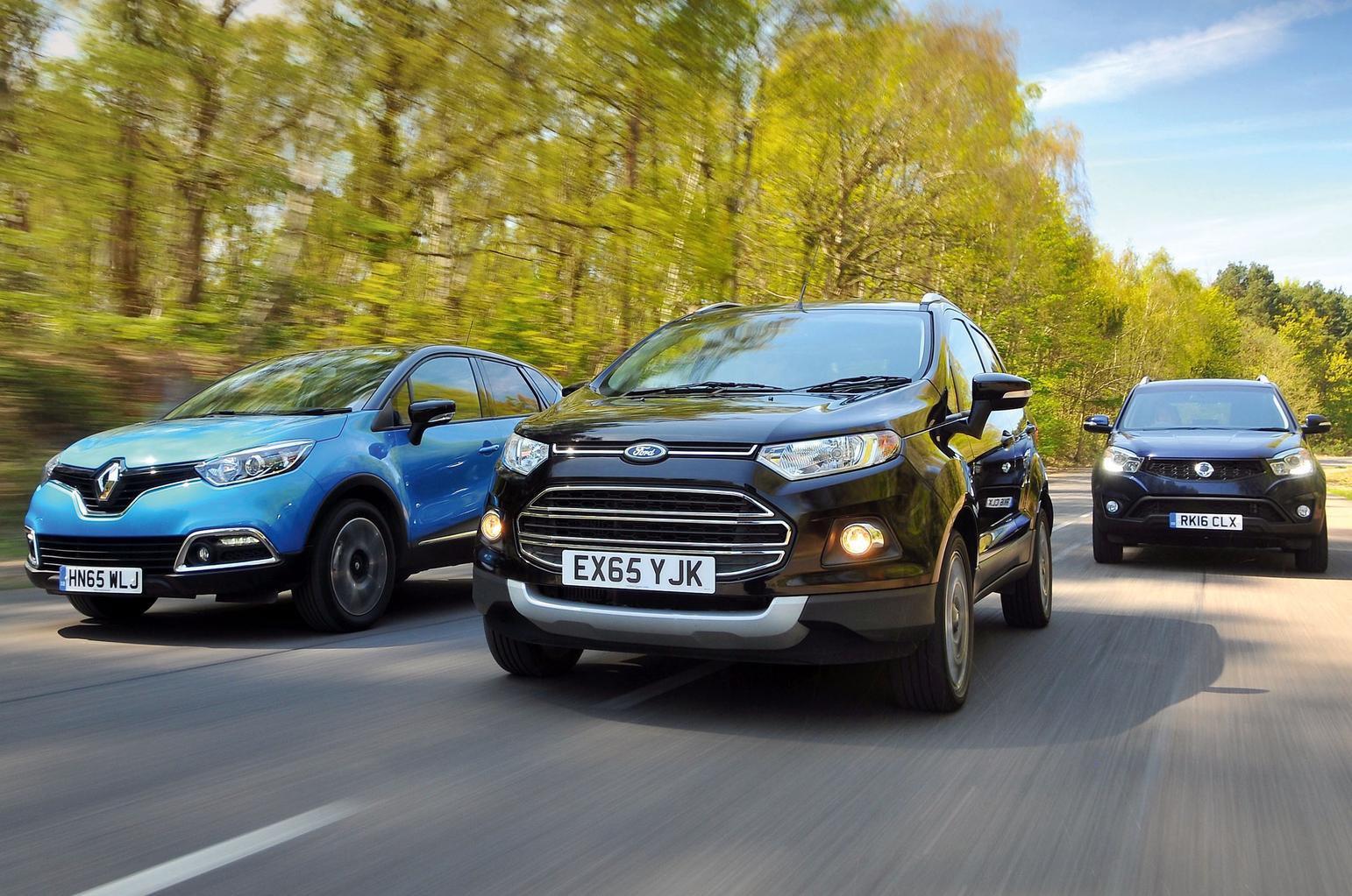 Renault Captur vs Ford Ecosport vs Ssangyong Korando