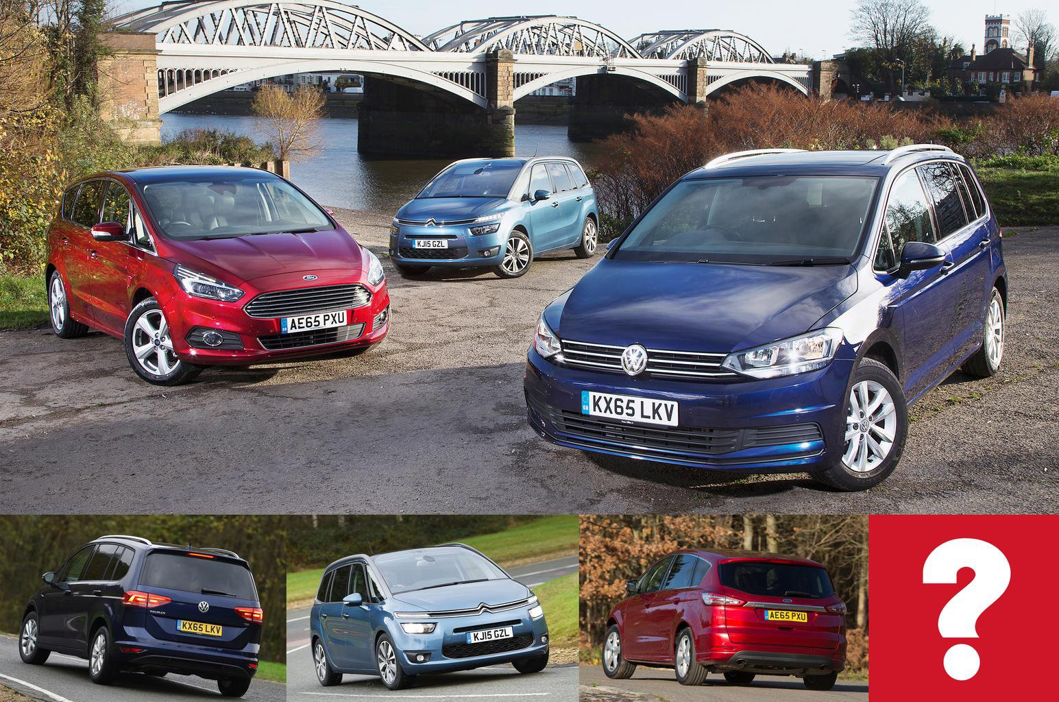 Volkswagen Touran vs Citroen Grand C4 Picasso vs Ford S-Max