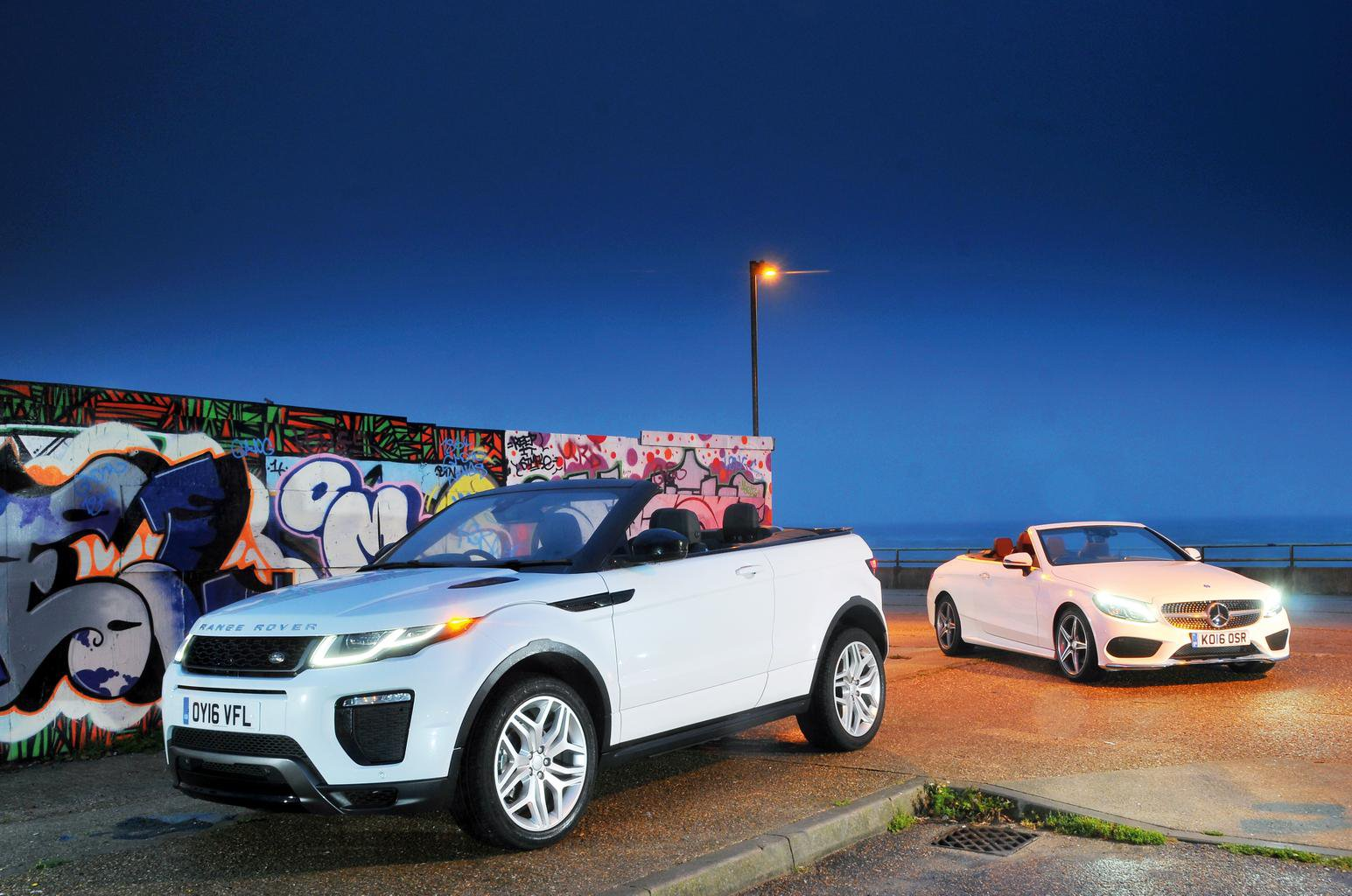 Range Rover Evoque Convertible vs Mercedes C-Class Cabriolet
