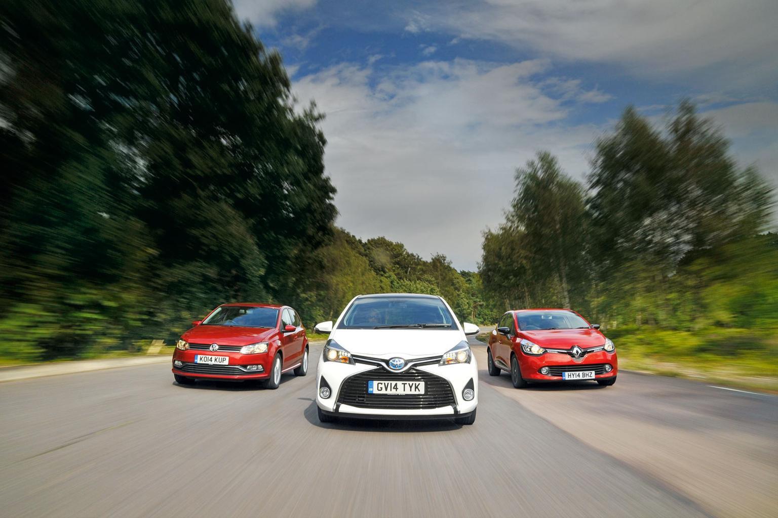 Renault Clio vs Toyota Yaris vs Volkswagen Polo