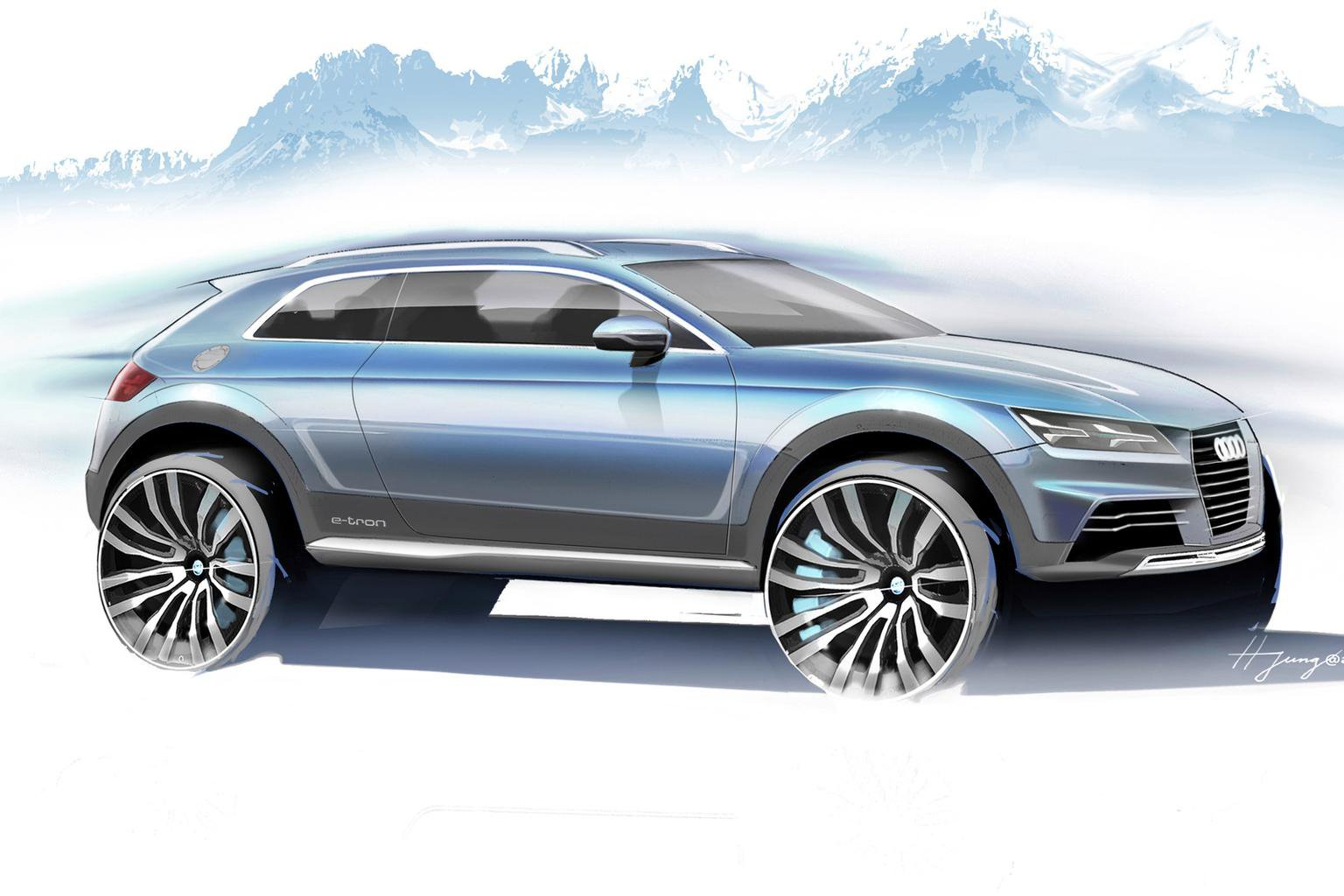 Audi crossover concept previewed before Detroit show