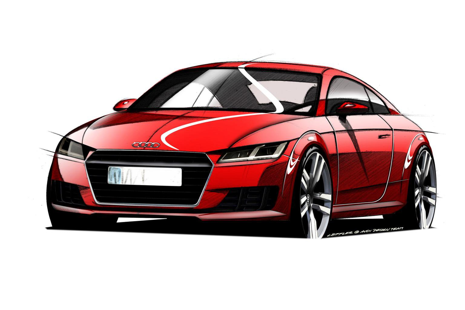 2014 Audi TT previewed in design sketches