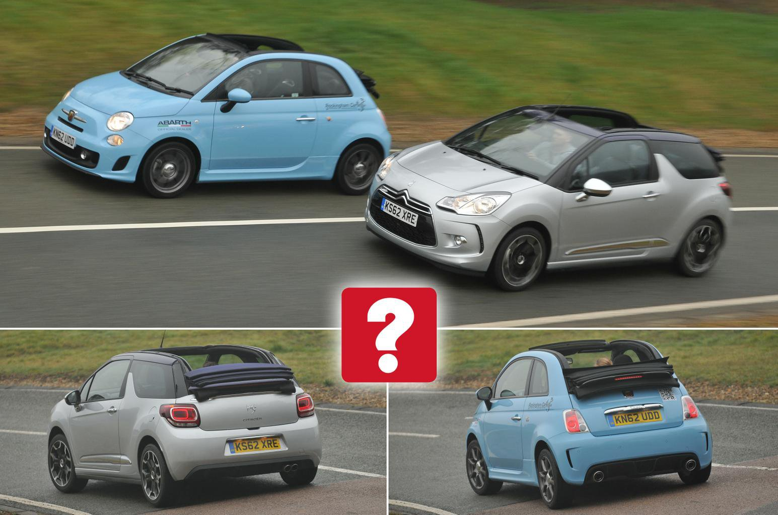 Used Fiat 500C vs Citroen DS3 Cabrio