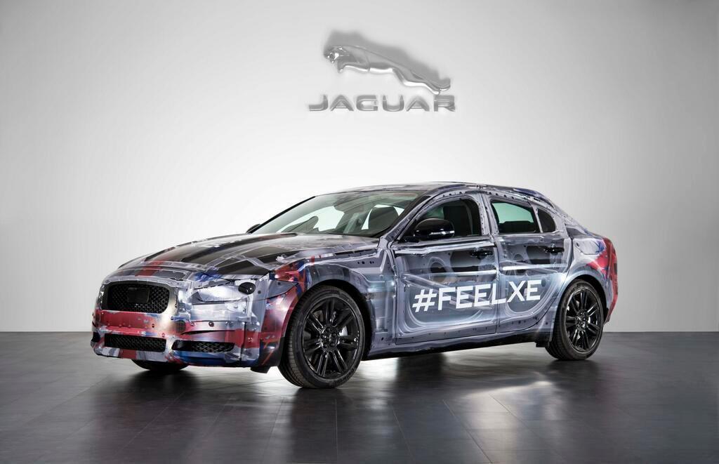 Jaguar XE testing mule shown