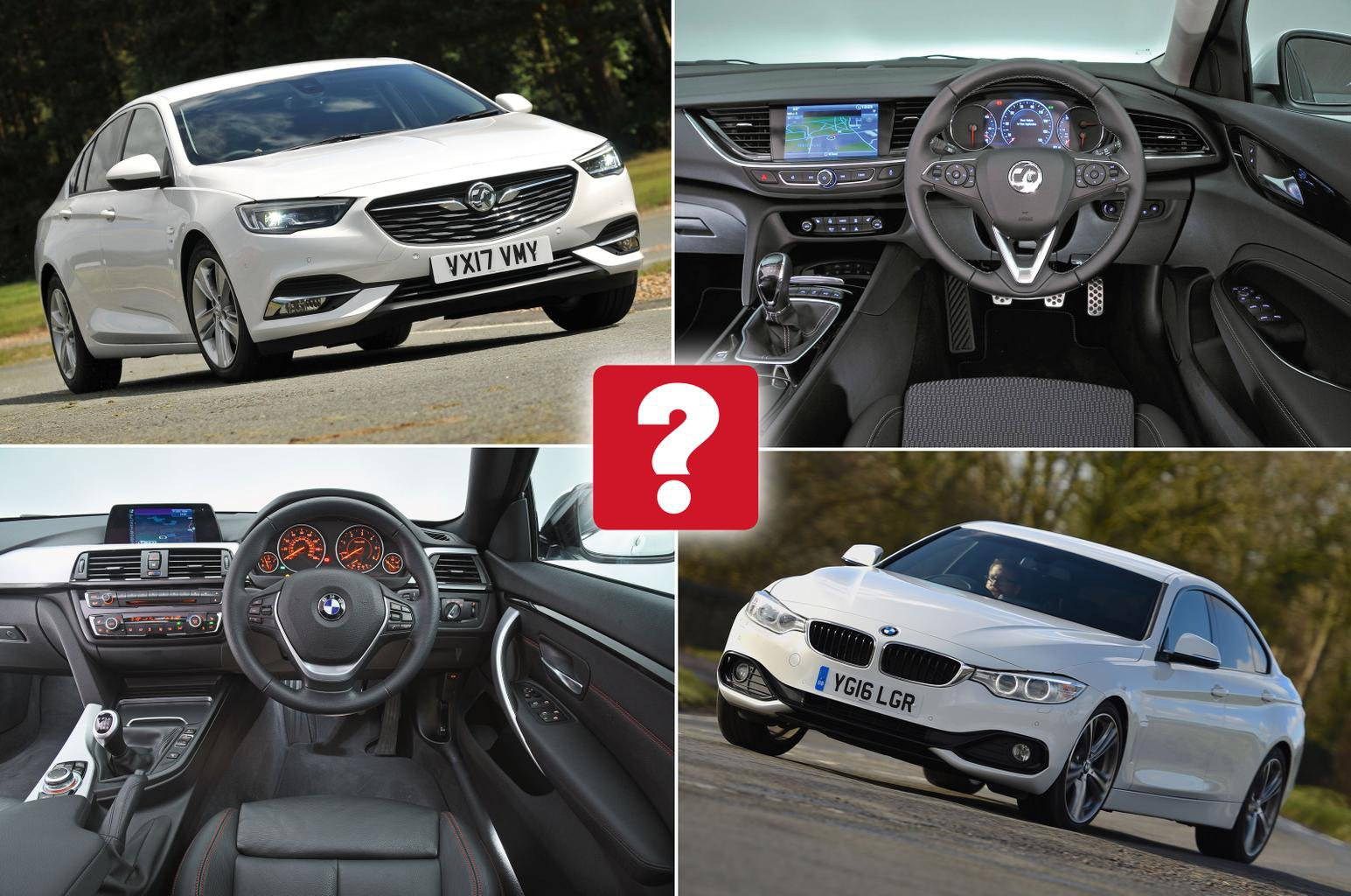 New Vauxhall Insignia Grand Sport vs used BMW 4 Series Gran Coupe: which is best?