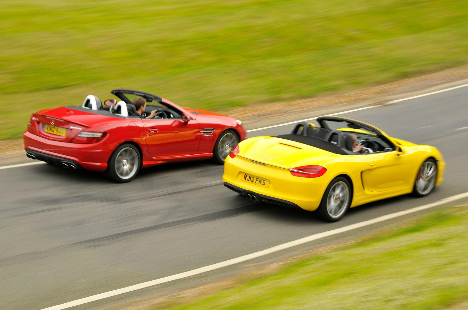 Used sports cars tested: Porsche Boxster vs Mercedes SLK