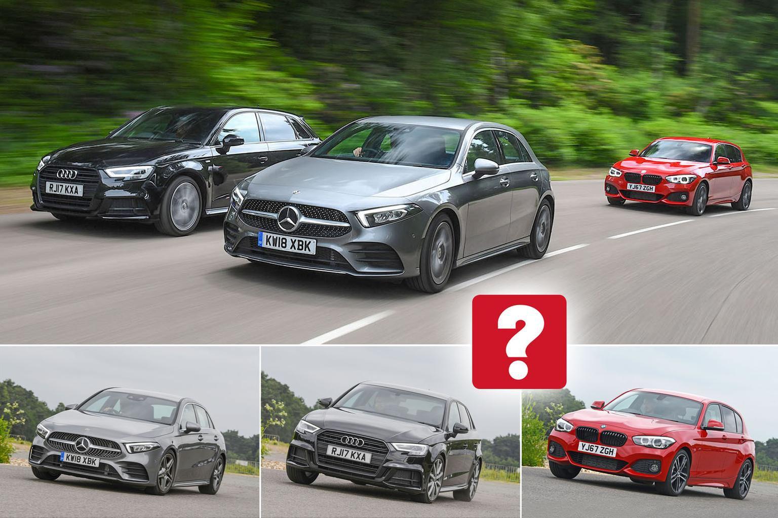 New Mercedes-Benz A-Class vs Audi A3 Sportback vs BMW 1