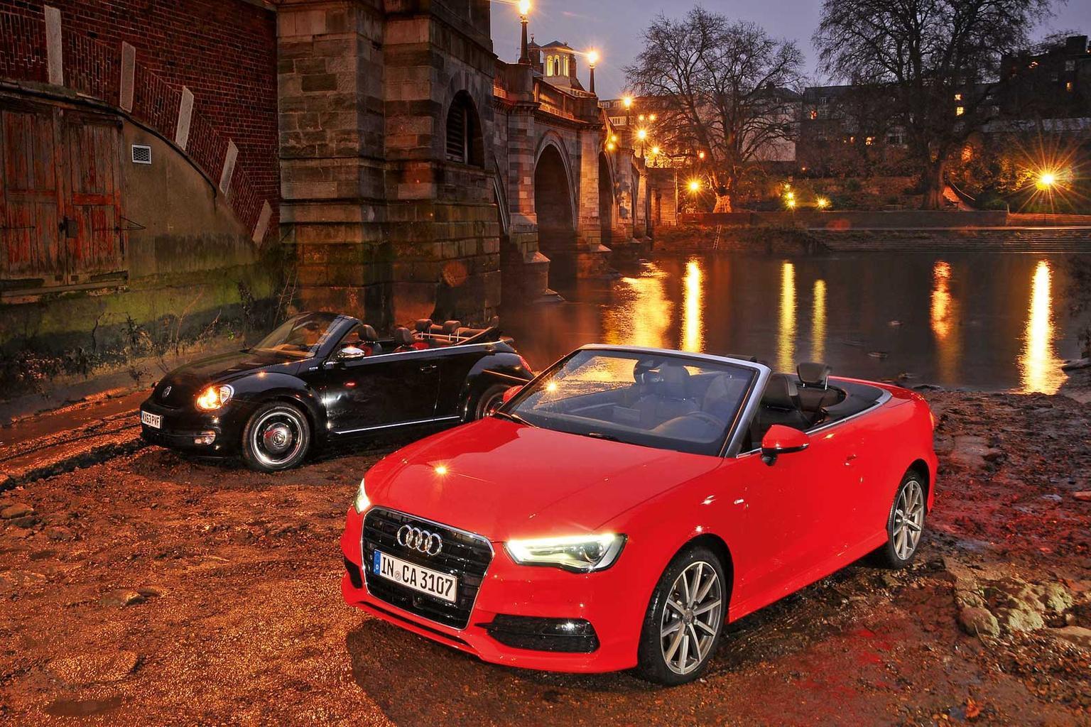 Audi A3 Cabriolet vs VW Beetle Cabriolet