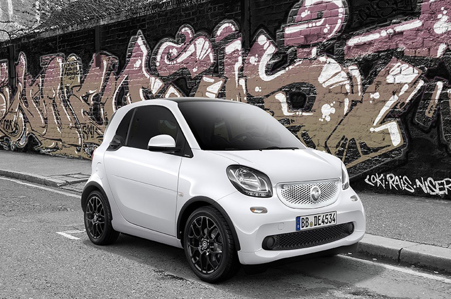 Smart Fortwo And Forfour White Black Editions Released