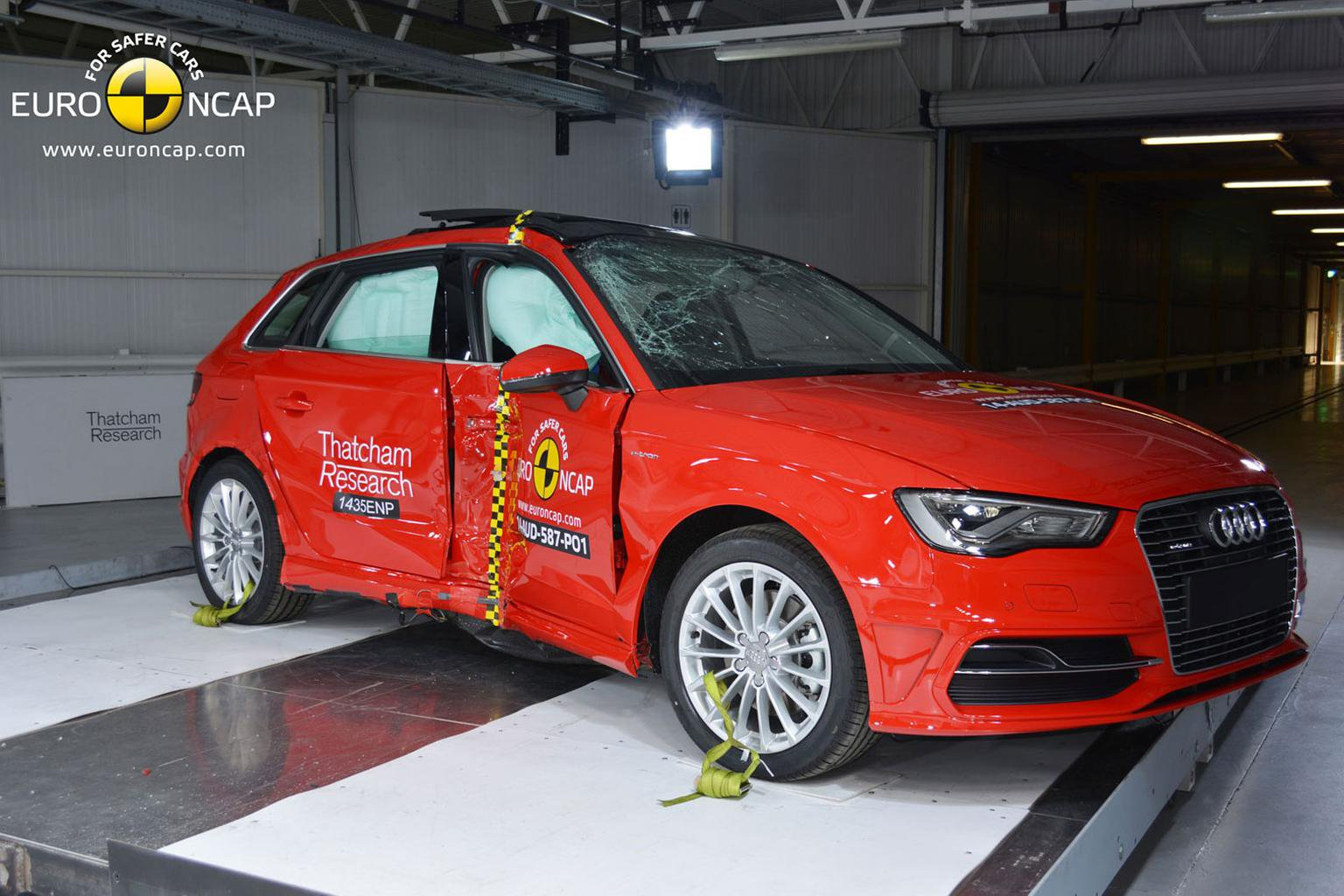 Electric Audi gains top honours in Euro NCAP safety tests