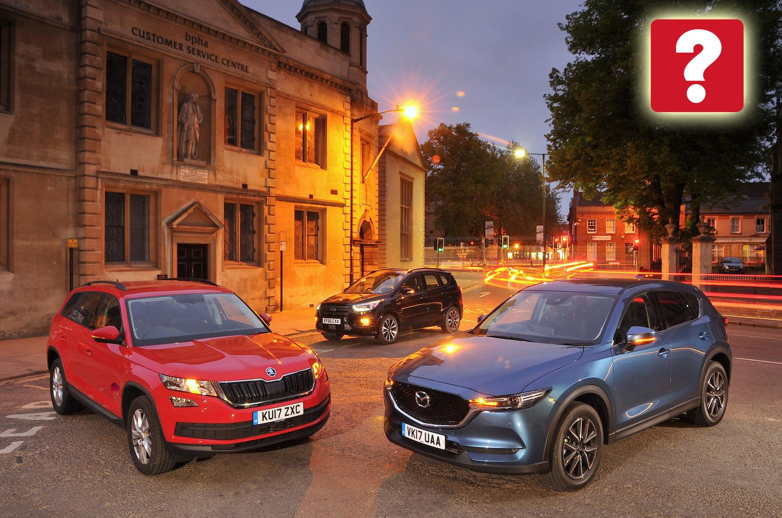 New Mazda CX-5 & Ford Kuga vs Skoda Kodiaq
