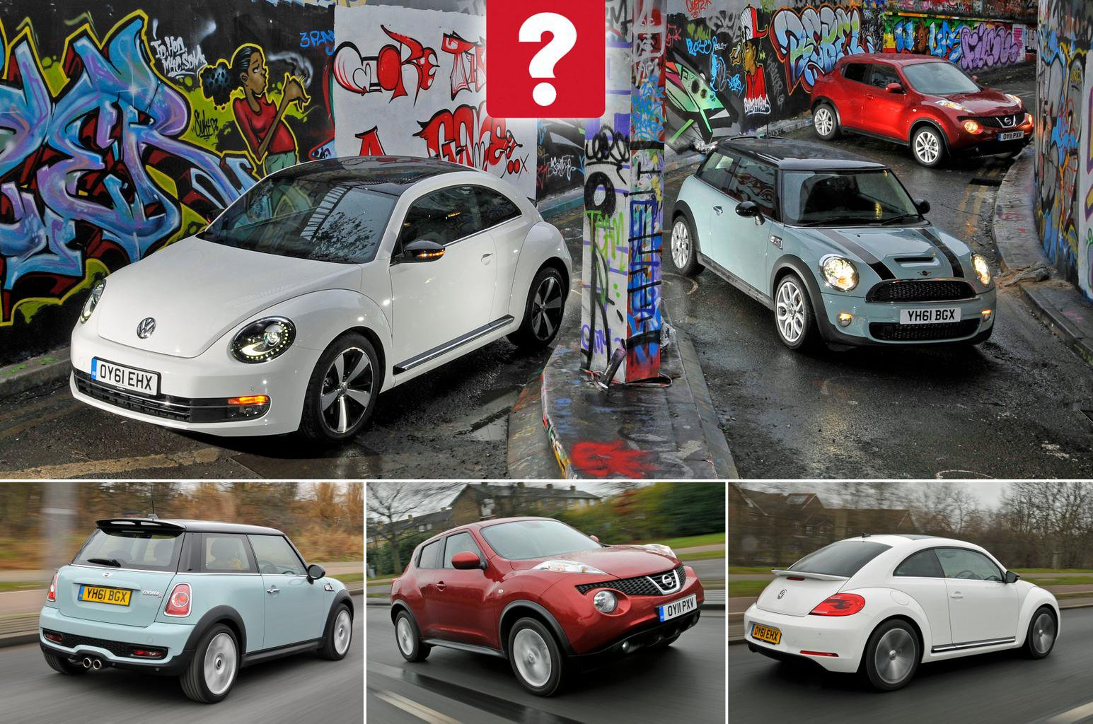 Used Mini Cooper S Vs Nissan Juke Volkswagen Beetle