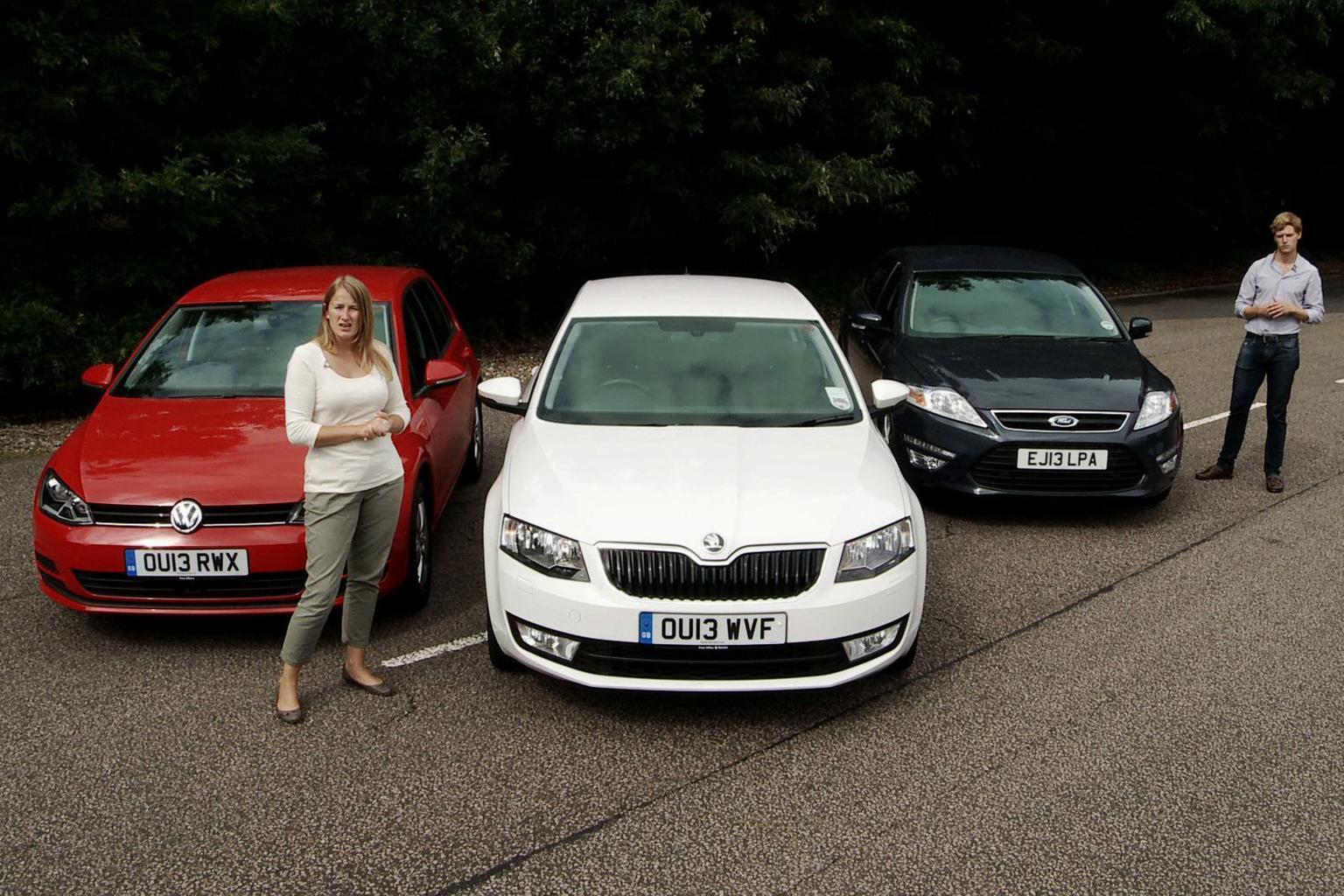 Octavia vs Golf vs Mondeo video group test