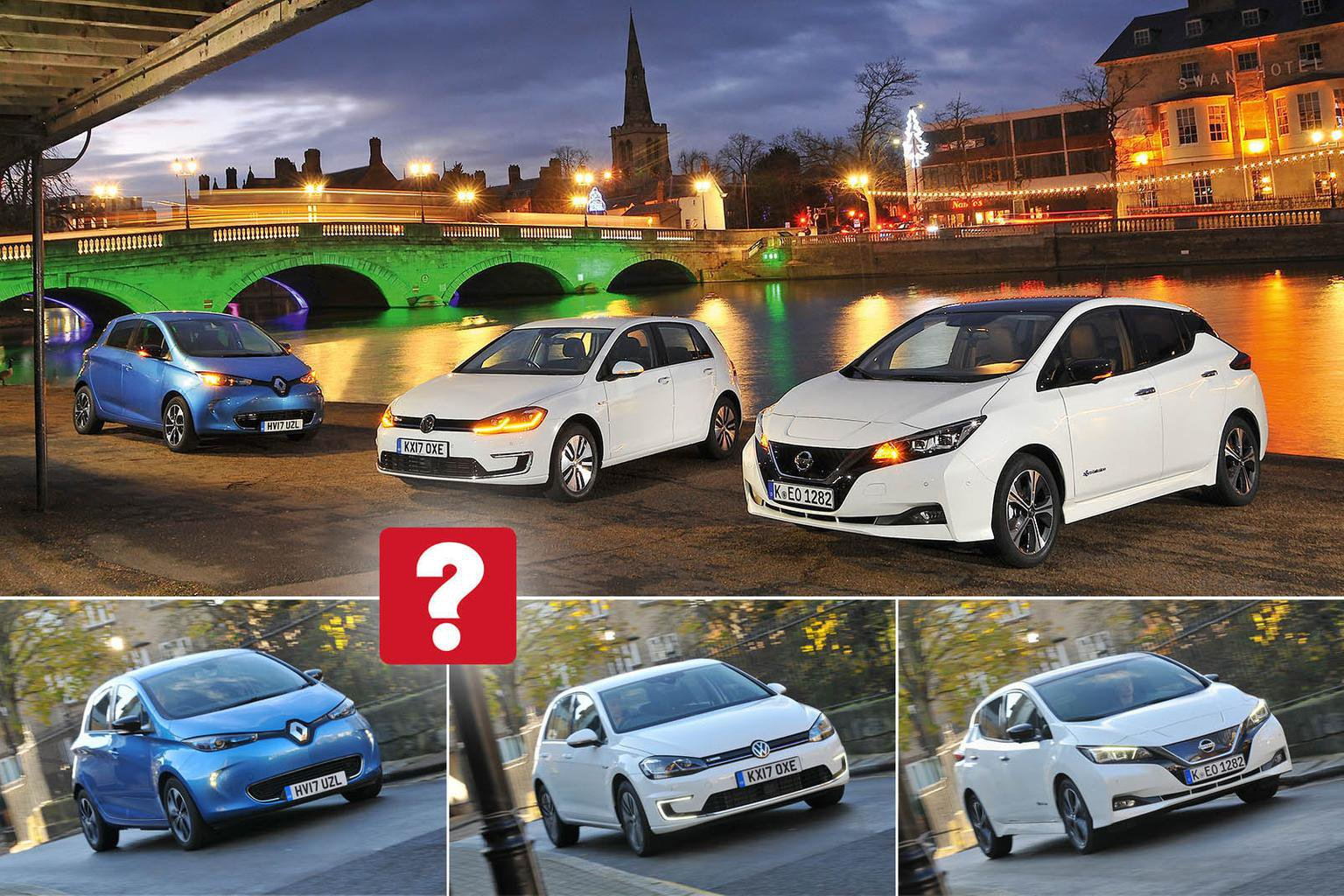 New Nissan Leaf vs Renault Zoe vs Volkswagen e-Golf