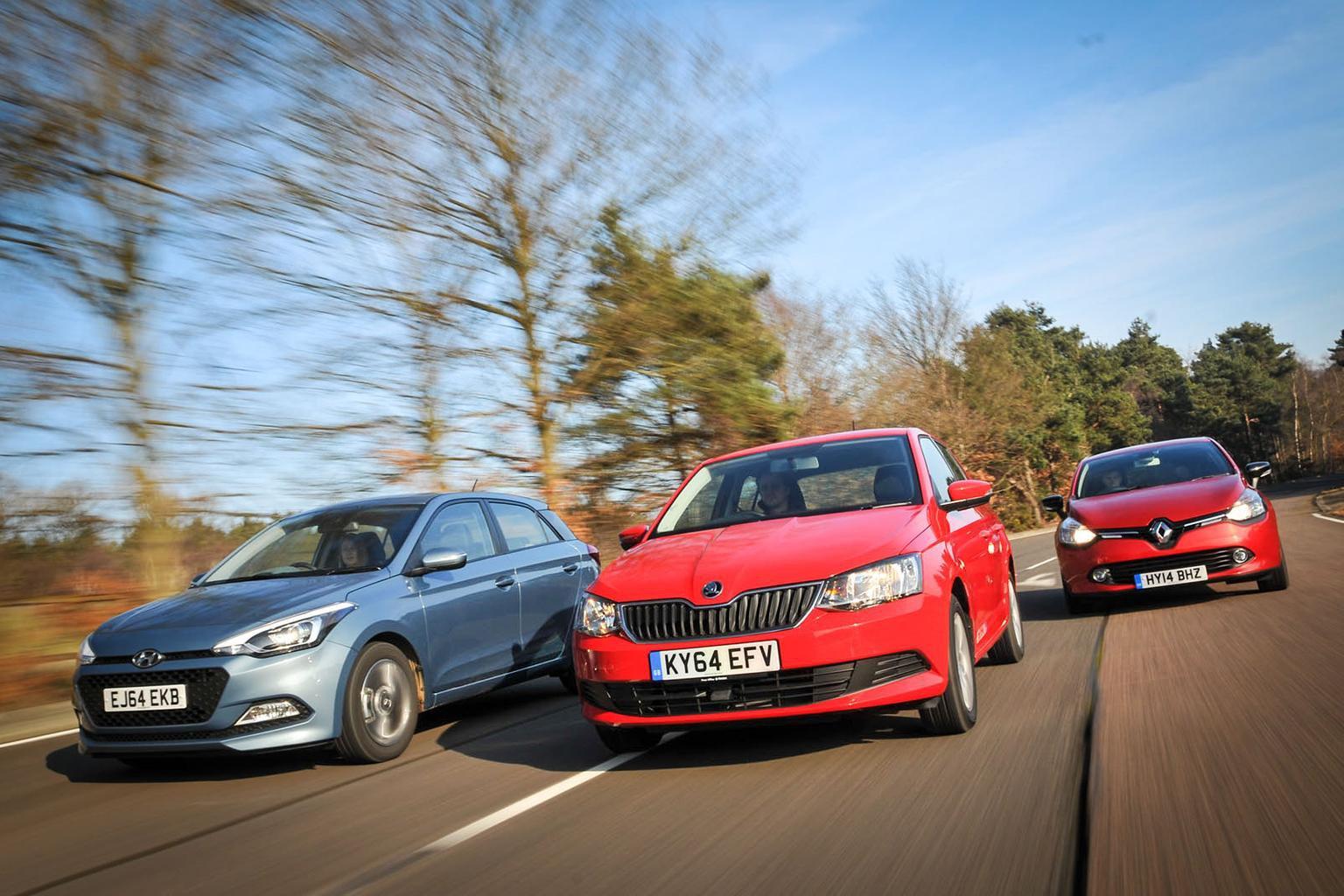 Renault Clio vs Skoda Fabia vs Hyundai i20