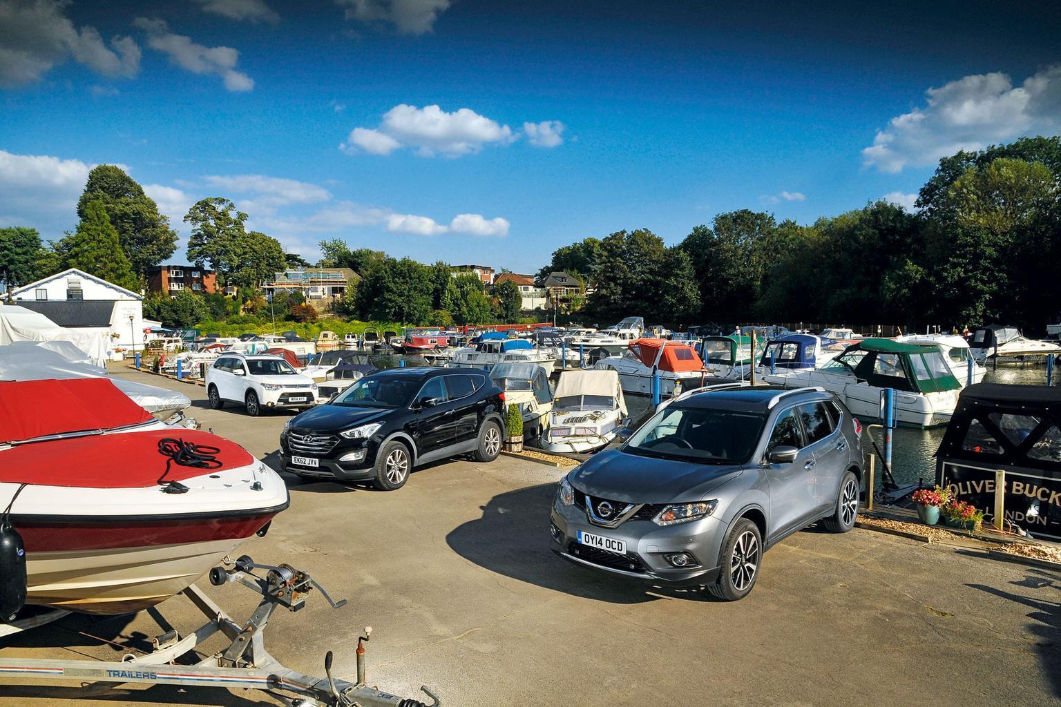 Hyundai Santa Fe vs Mitsubishi Outlander vs Nissan X-Trail