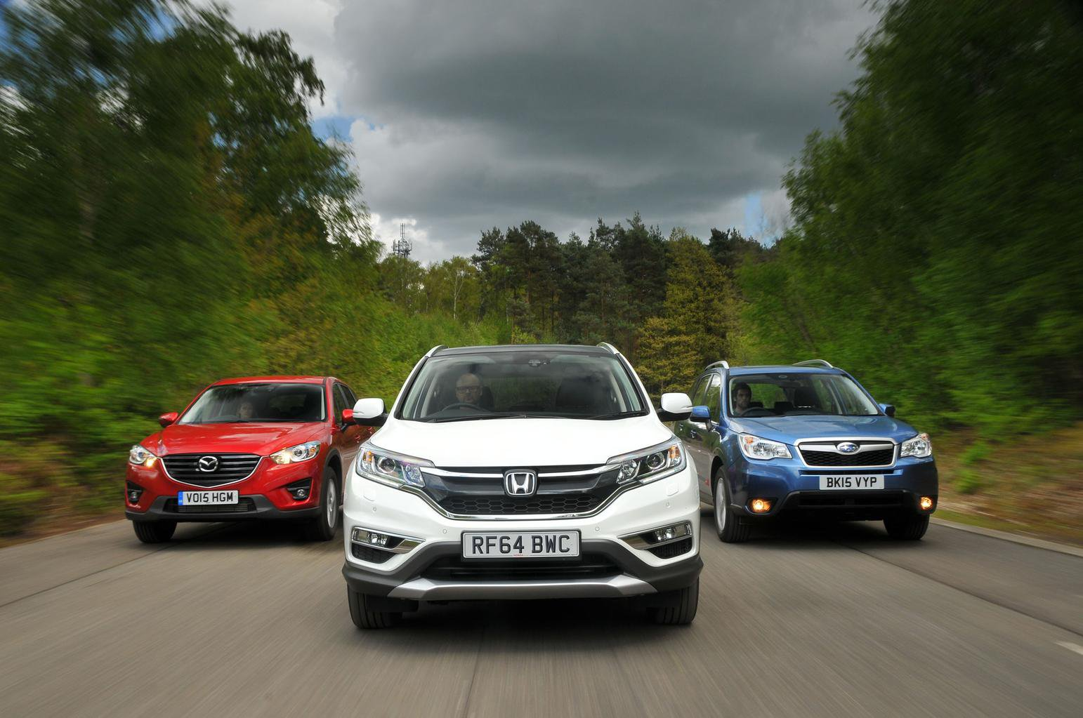 Honda CR-V vs Mazda CX-5 vs Subaru Forester