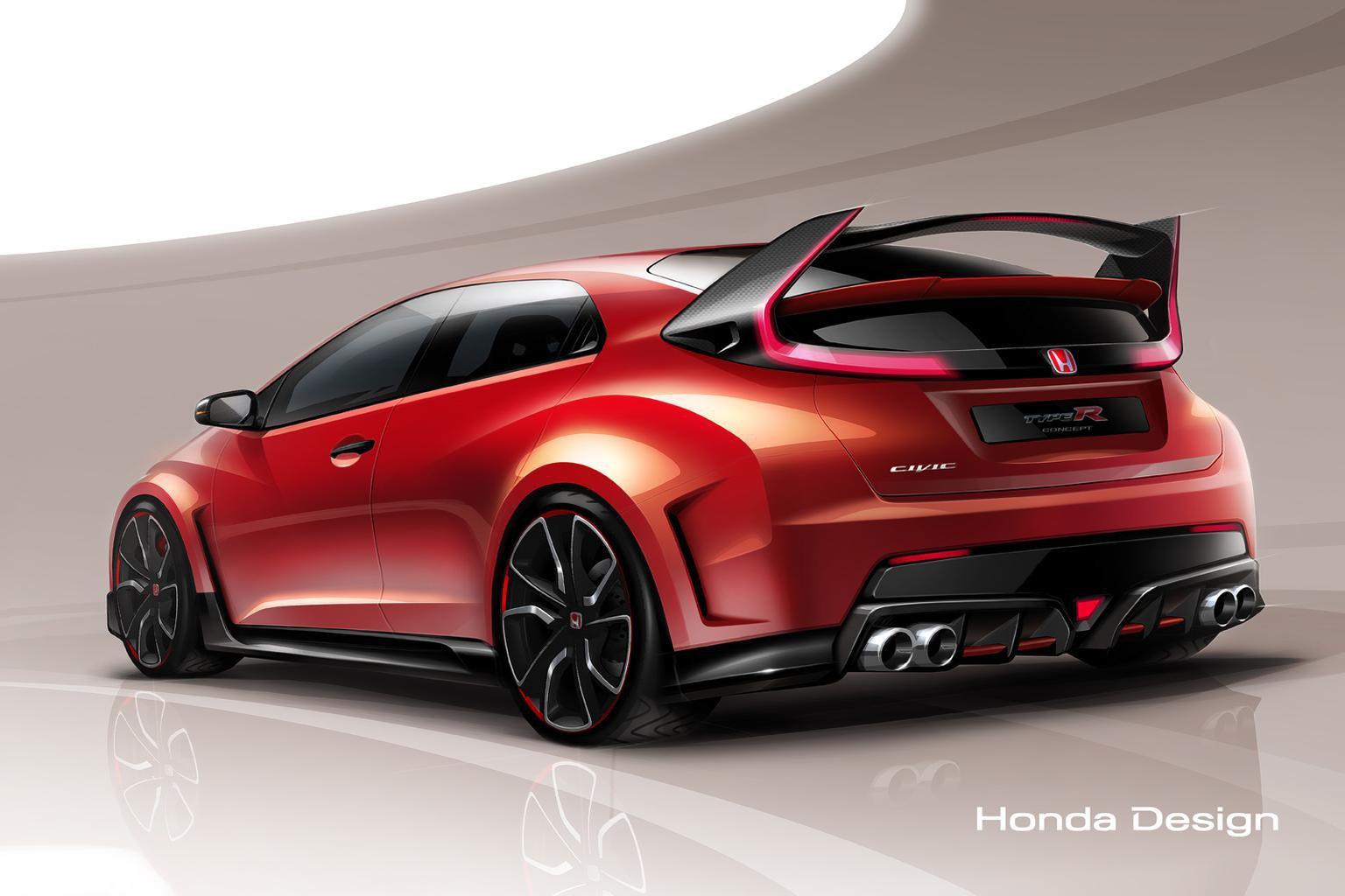 Honda Civic Type R concept revealed in Geneva