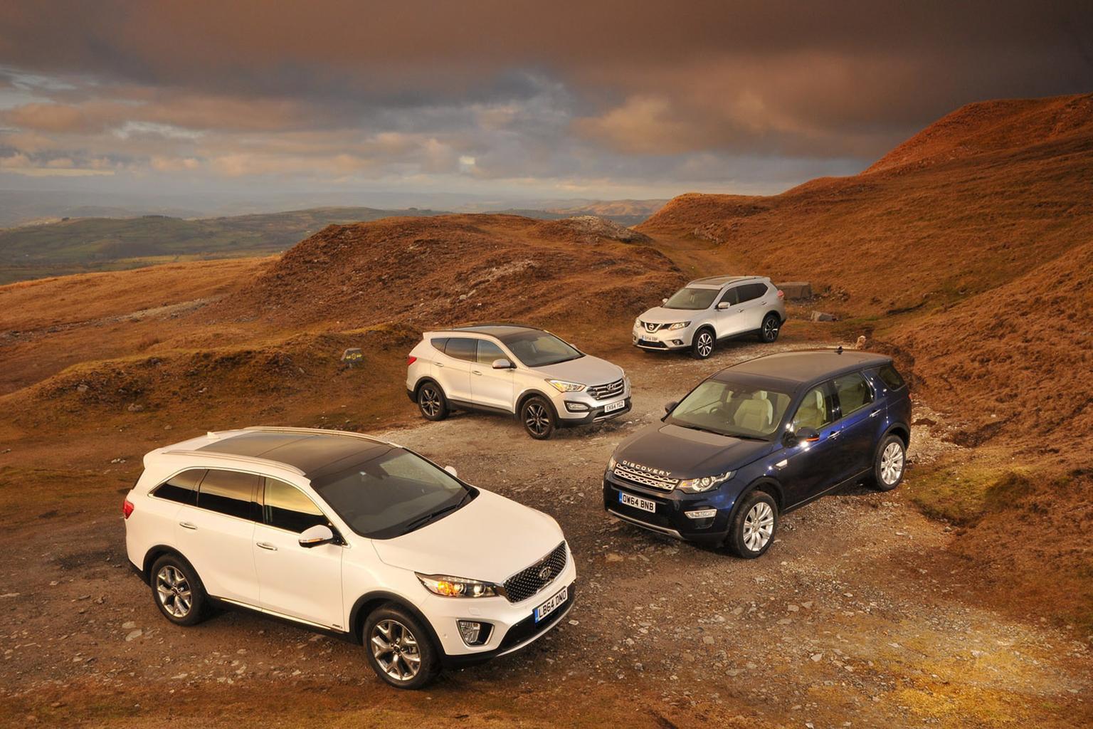 Kia Sorento vs Land Rover Discovery Sport vs Hyundai Santa Fe vs Nissan X-Trail