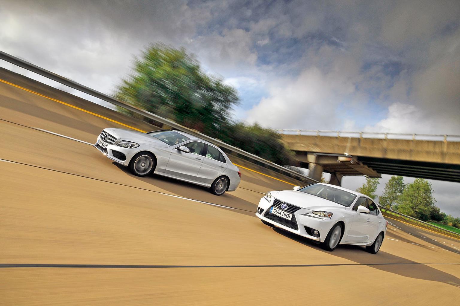 Lexus IS300h vs new Mercedes-Benz C-Class Hybrid