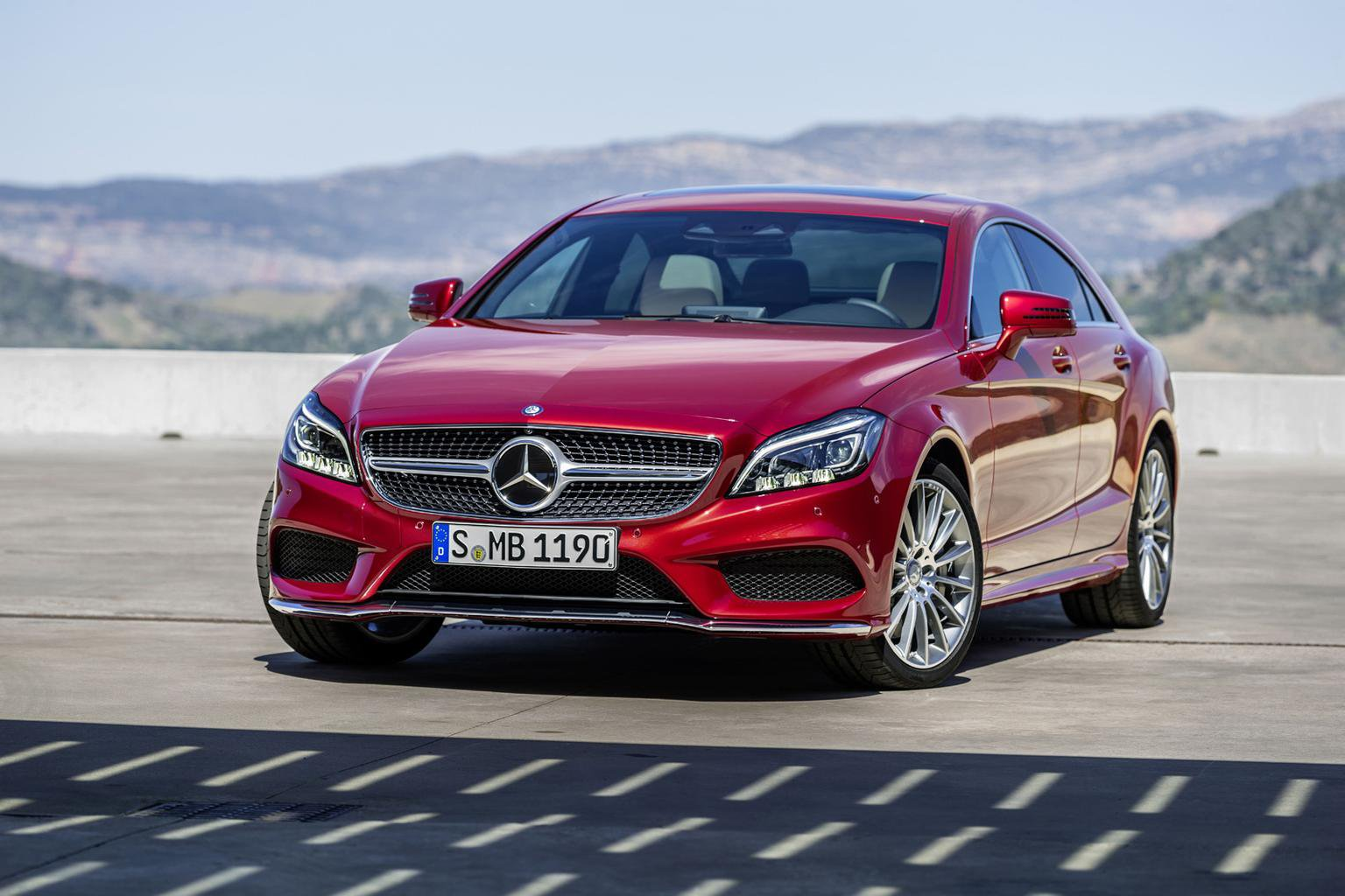 Face-lifted 2014 Mercedes CLS revealed