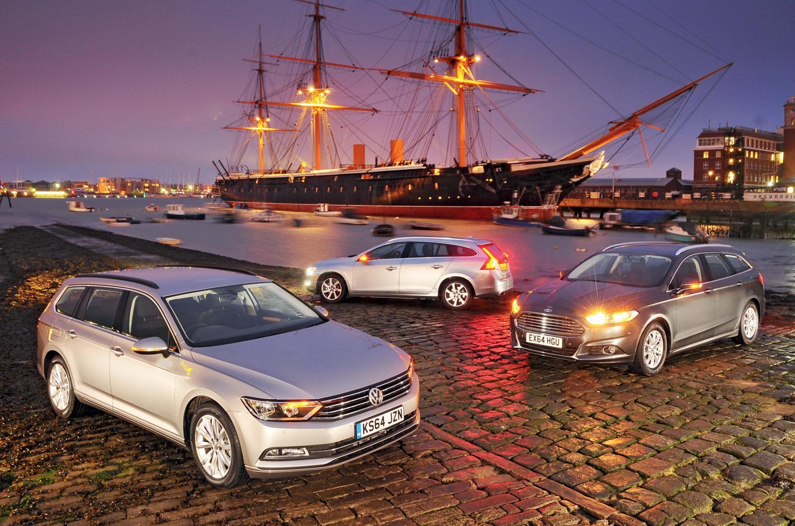 Ford Mondeo Estate vs Volkswagen Passat Estate vs Volvo V60