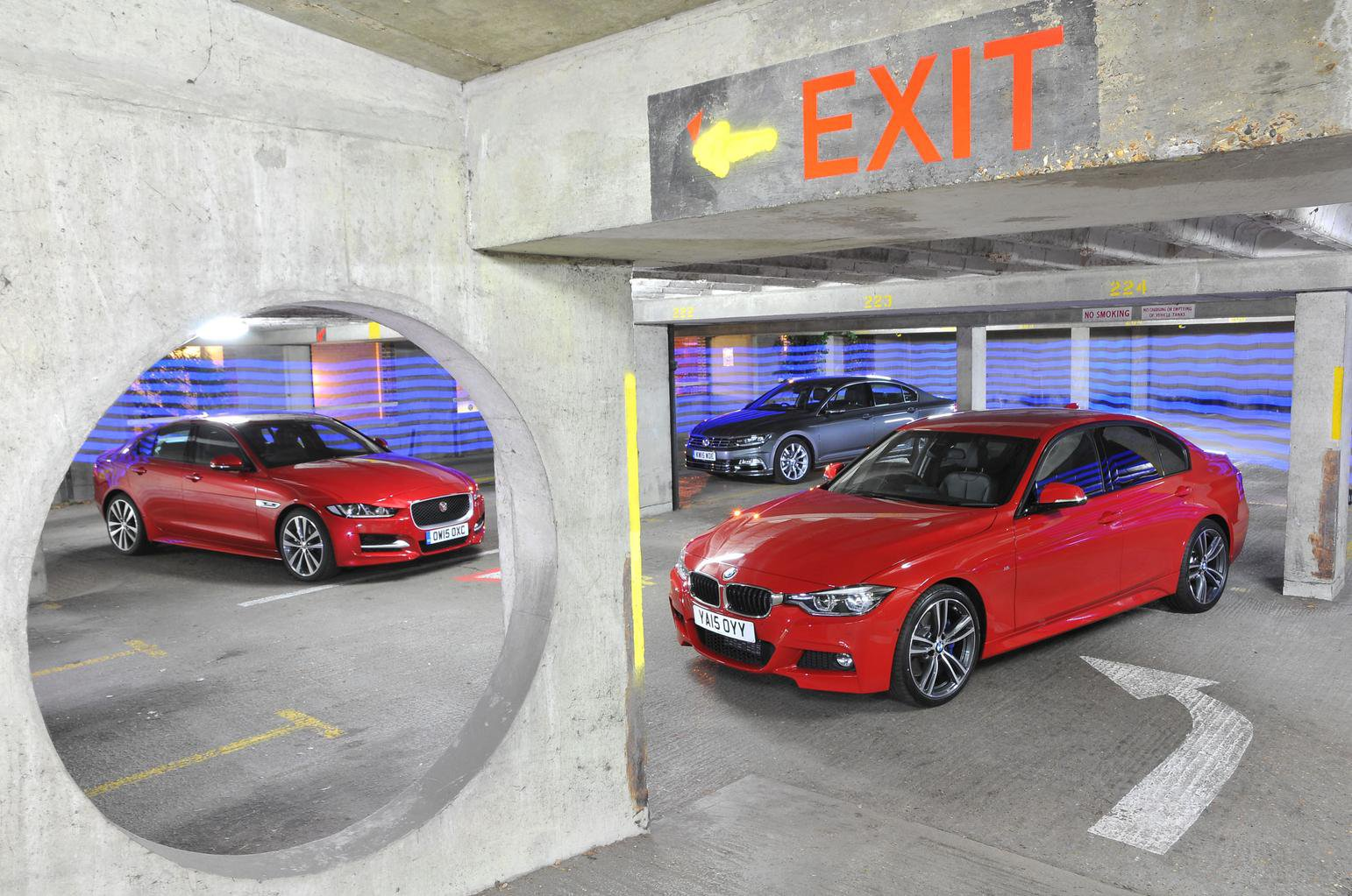 BMW 3 Series vs Jaguar XE vs VW Passat