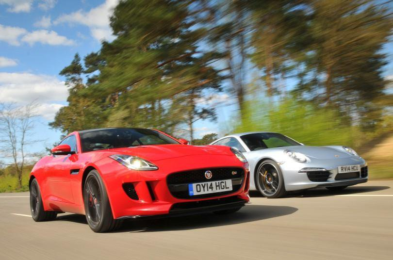 Used Jaguar F-Type Coupe vs Porsche 911