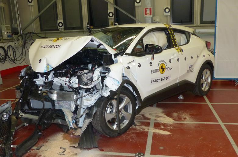 Toyota C-HR crash test