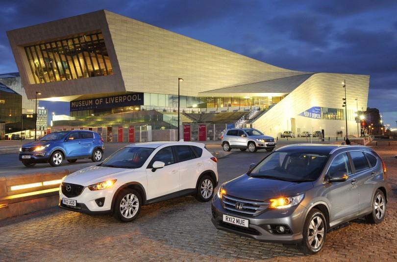 Used Honda CR-V vs Kia Sportage vs Mazda CX-5 vs Volkswagen Tiguan
