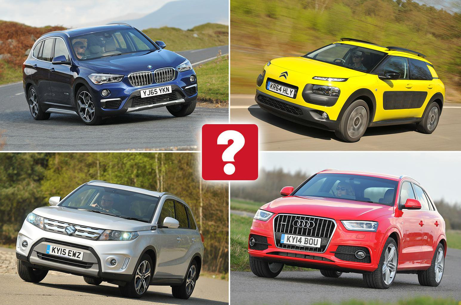 Collage of some of the best small SUVs