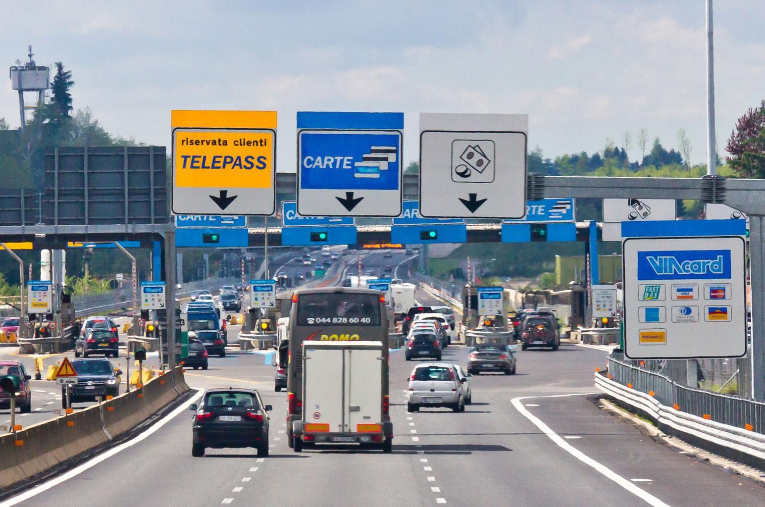 motorway toll stop