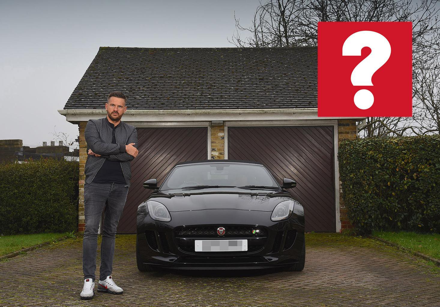 Aidan Magee and his Jaguar F-Type