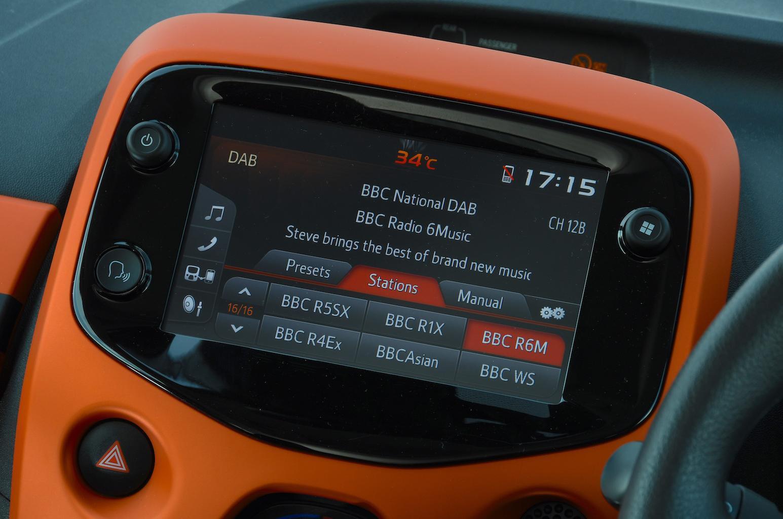 Citroën C1 Urban Ride touchscreen