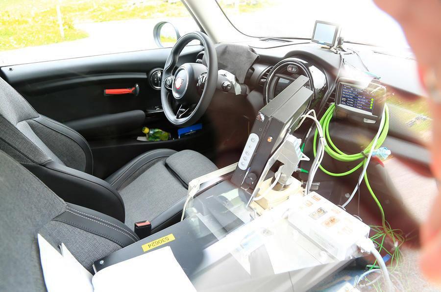 Mini Electric prototype interior