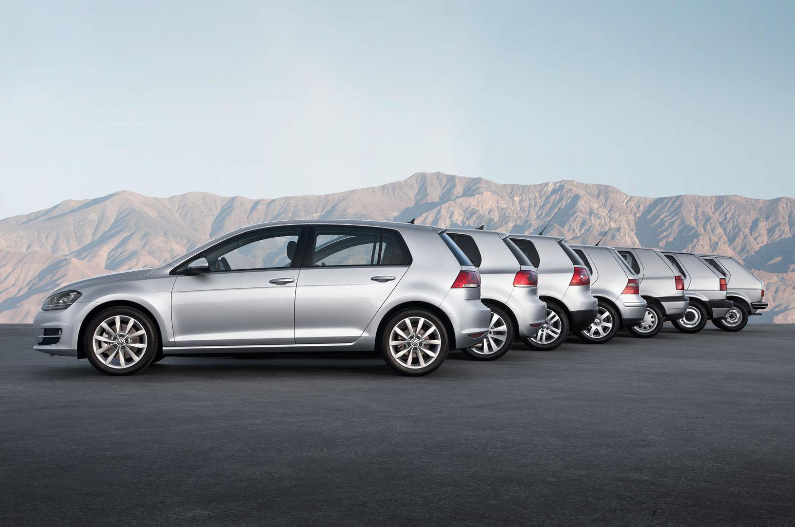 Volkswagen Golf through the generations