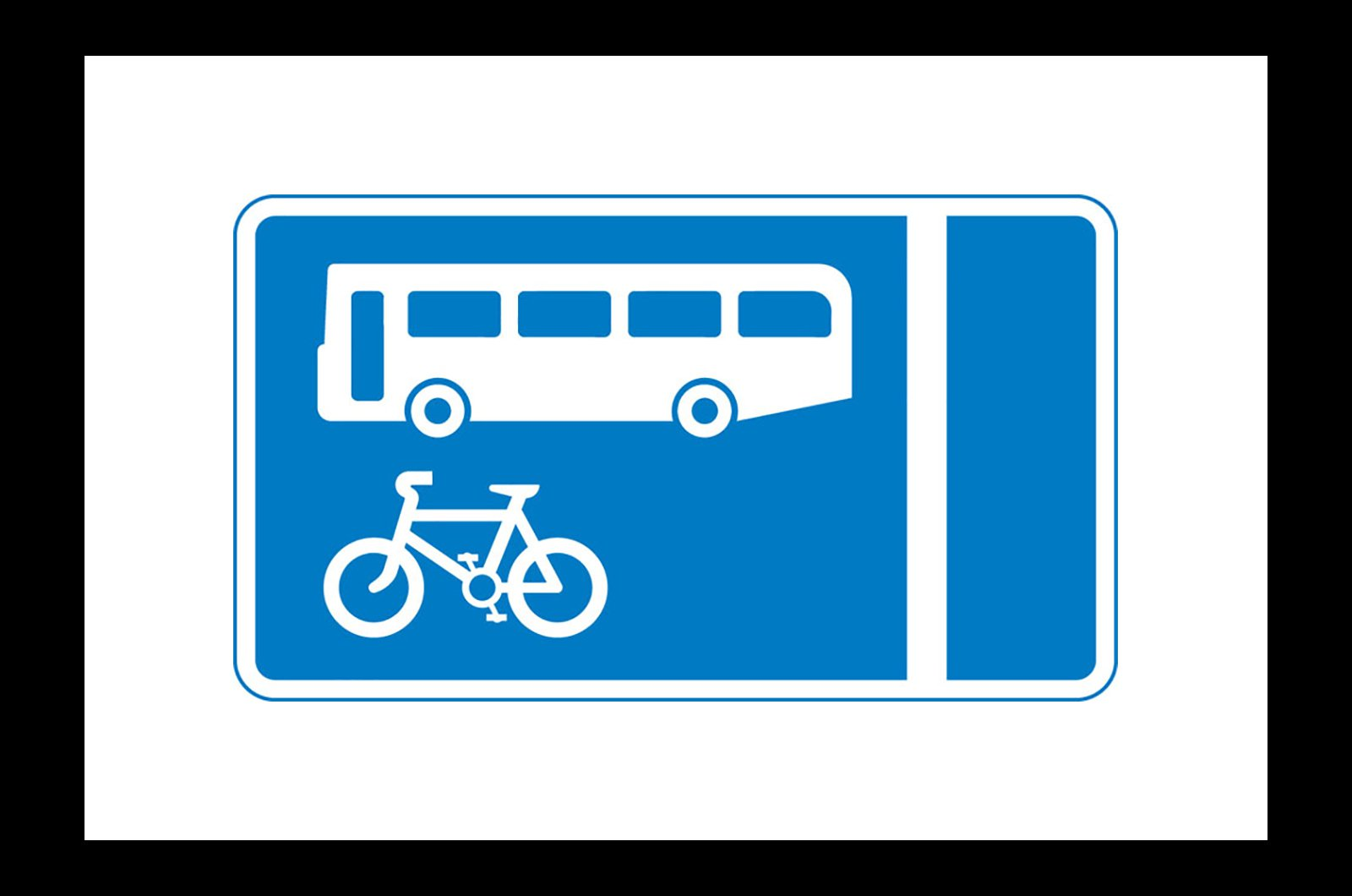 With-flow bus and cycle lane