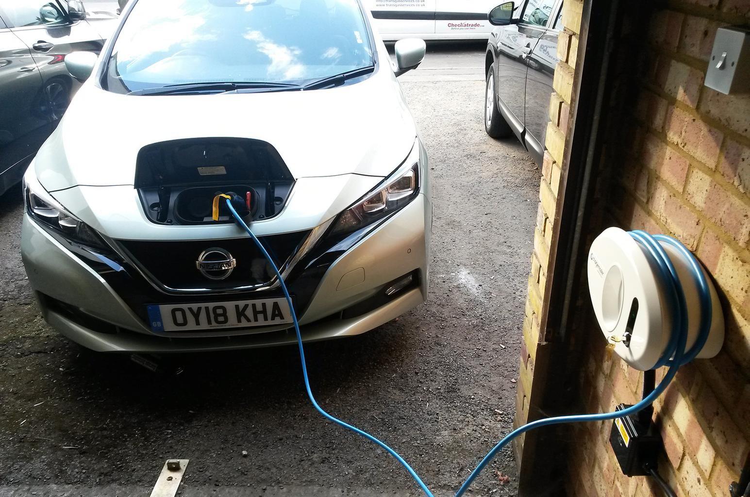 Nissan Leaf long-termer charging