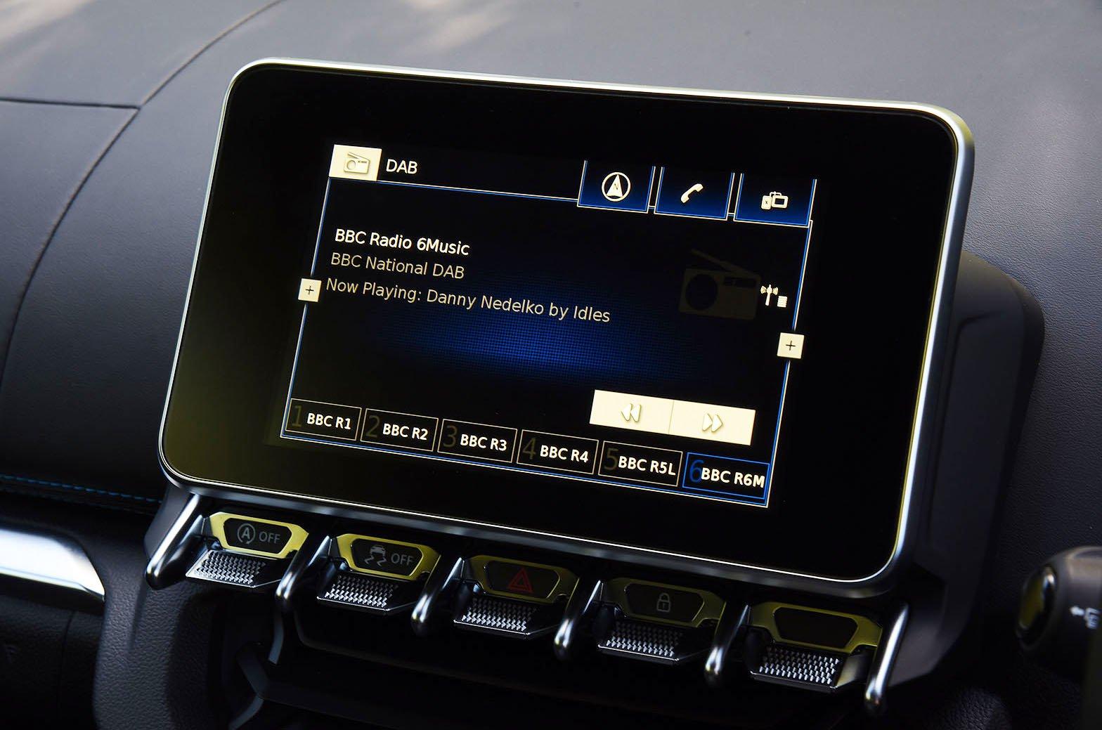 Alpine A110 touchscreen